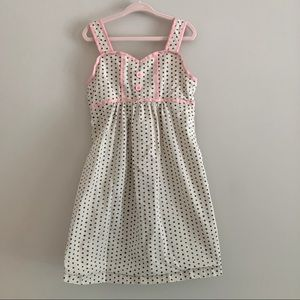 Hanna Andersson polka dot gray & pink dress size 6